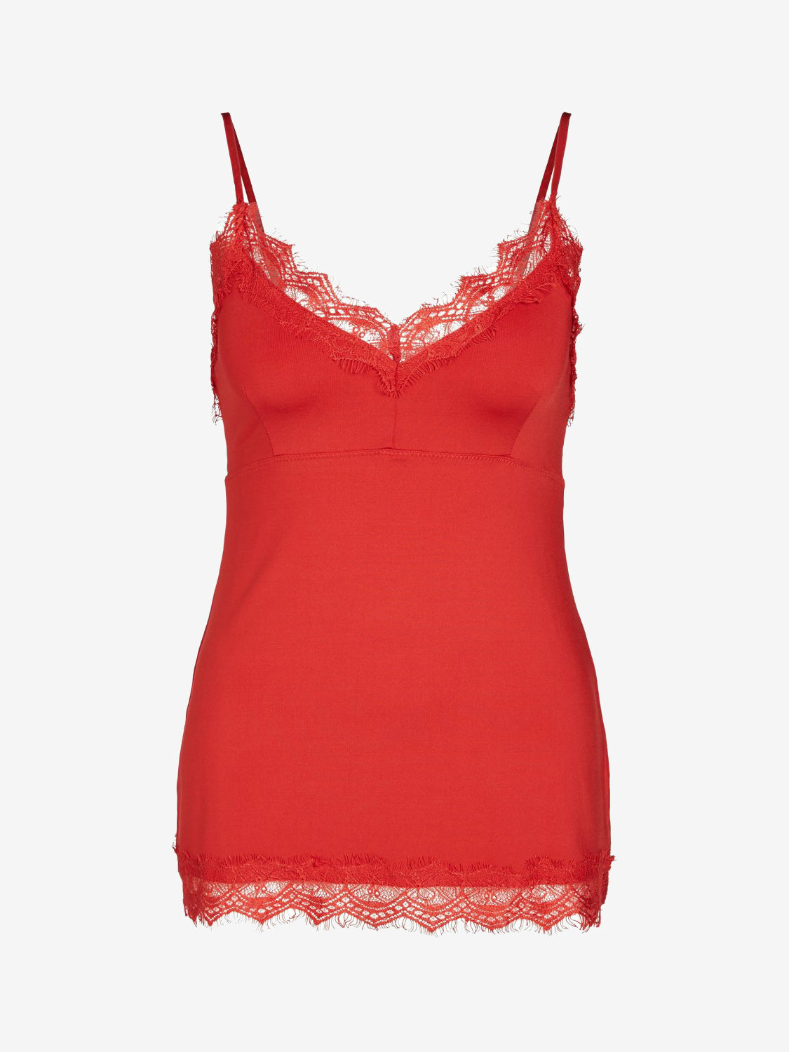 Set Lace Cami Top Red