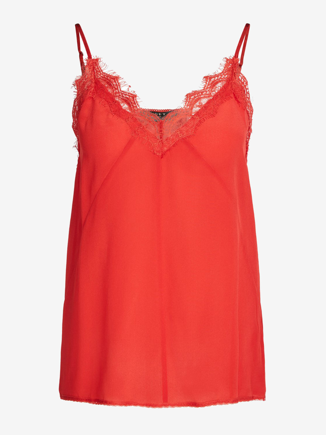 Set Silk Lace Cami Top Red