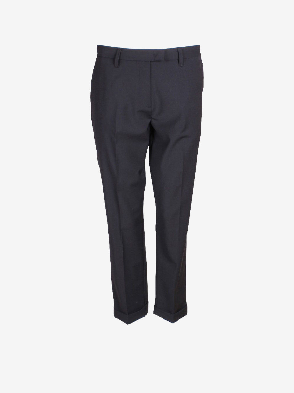 Twinset Cropped Woven Trousers Black