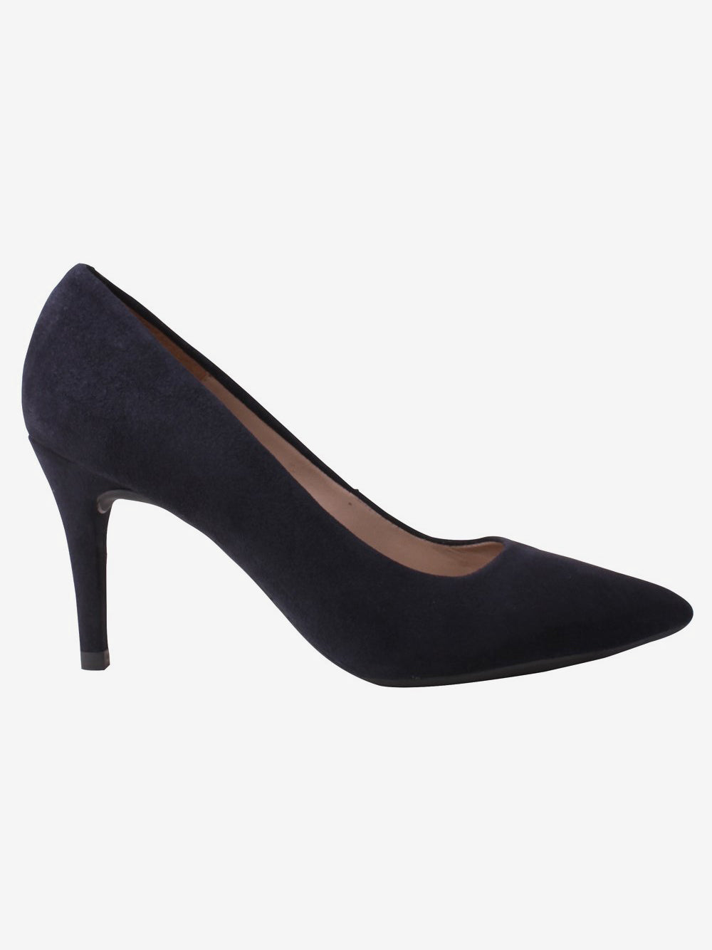 Navy Court Shoe Unisa Pointed Suede