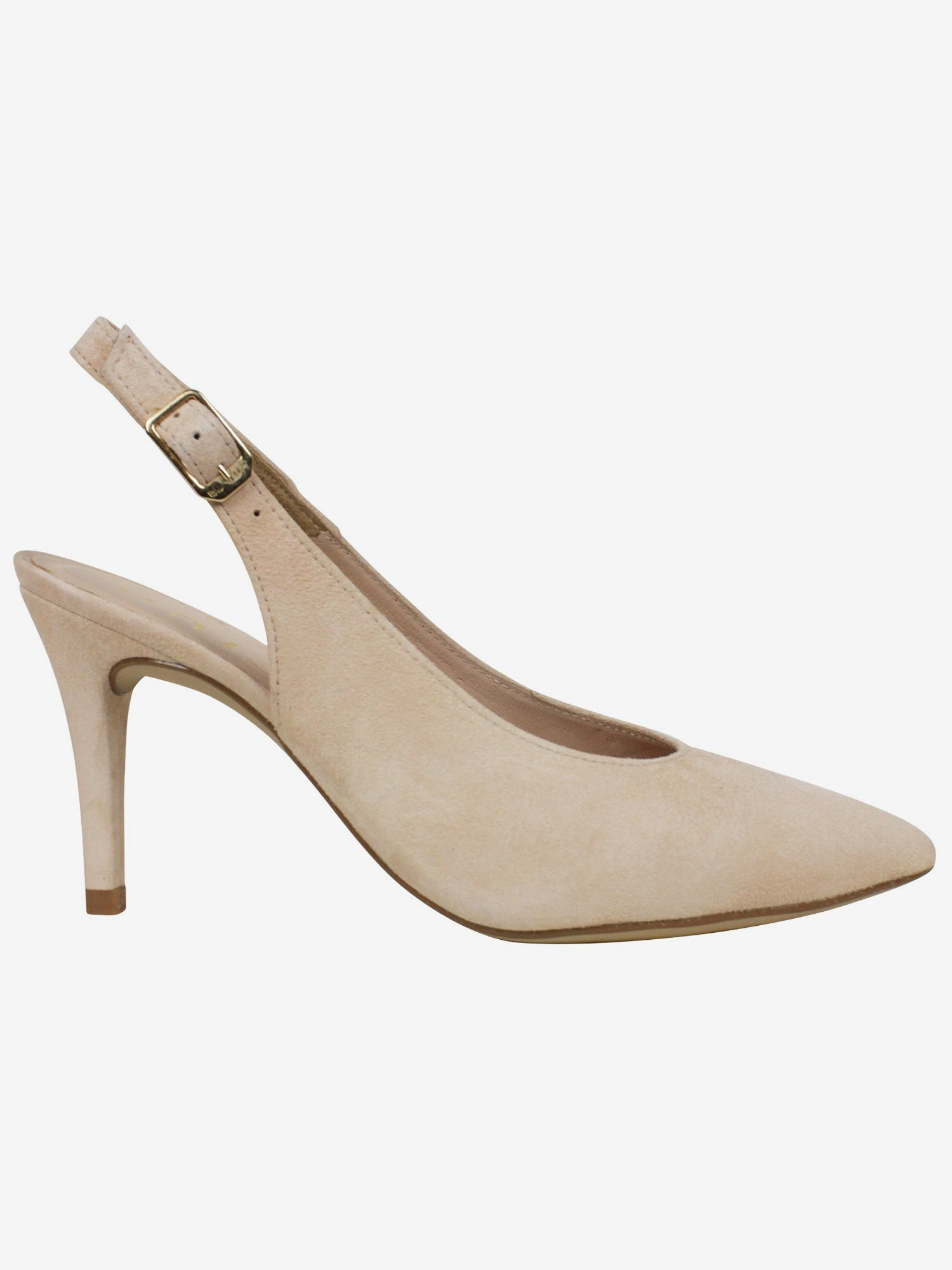 Cream Slingback Suede Shoes Unisa