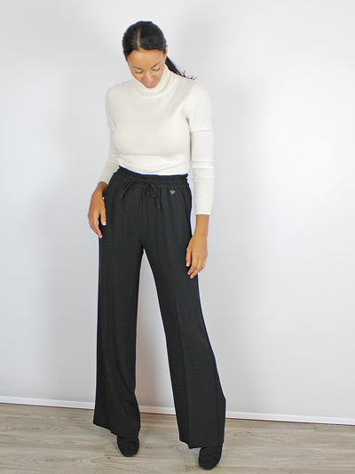 Wide Leg Trousers Black Twinset