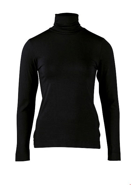 Zilch Polo Neck Top Black