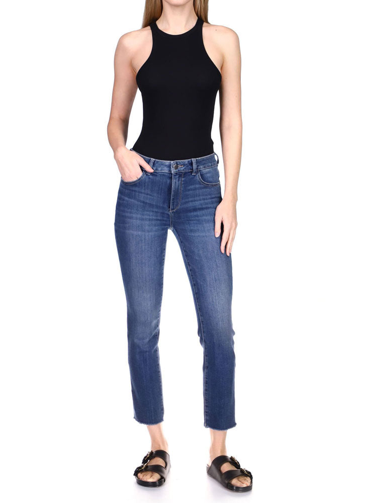 Image of DL1961 Mara Straight Jeans in Chancery