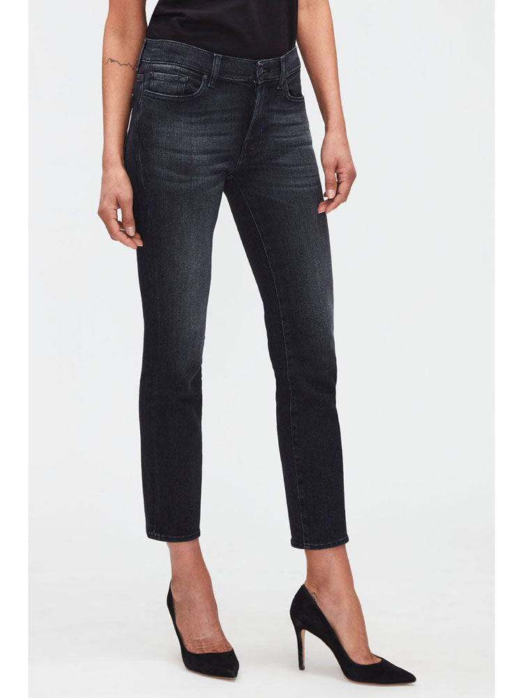 Image of 7FAM Roxanne Ankle Faded Black Jeans