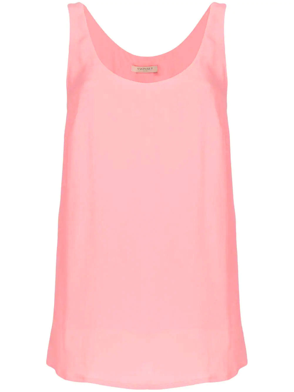 Image of Twinset Sleeveless Silk Top Pink
