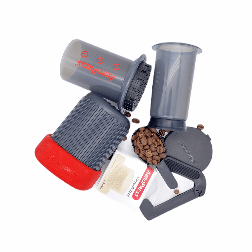 Aeropress GO Coffee Maker Set Hermanos Colombian Coffee Roasters
