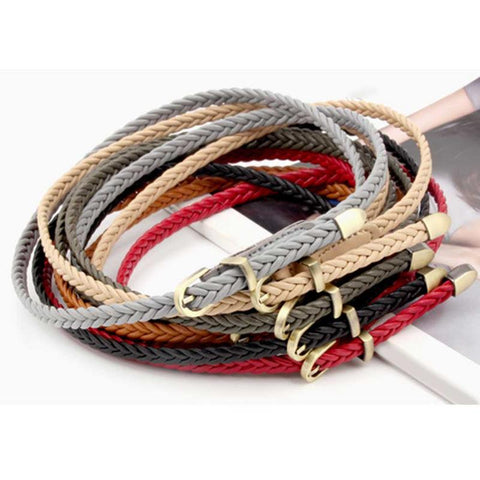 Vintage Hand-Woven Womens Braided Belt