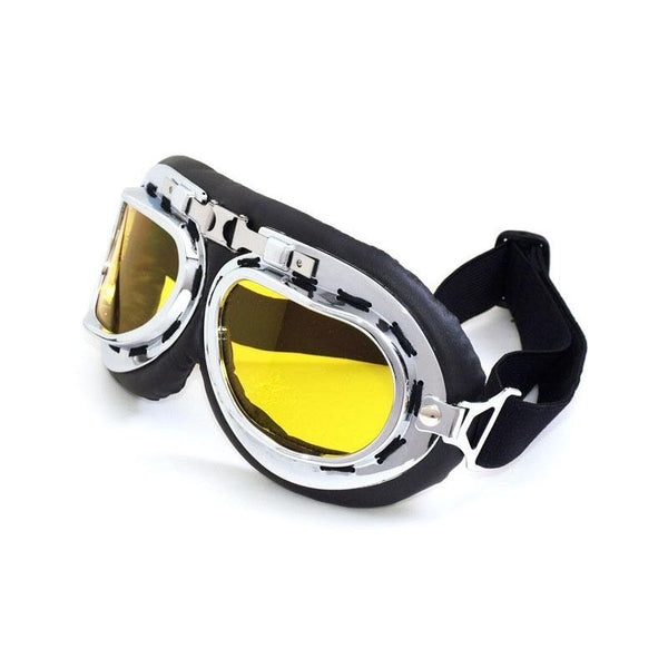 Windproof Anti-UV Motorcycle Biker Flying Goggles Helmet Glasses Protector Yellow