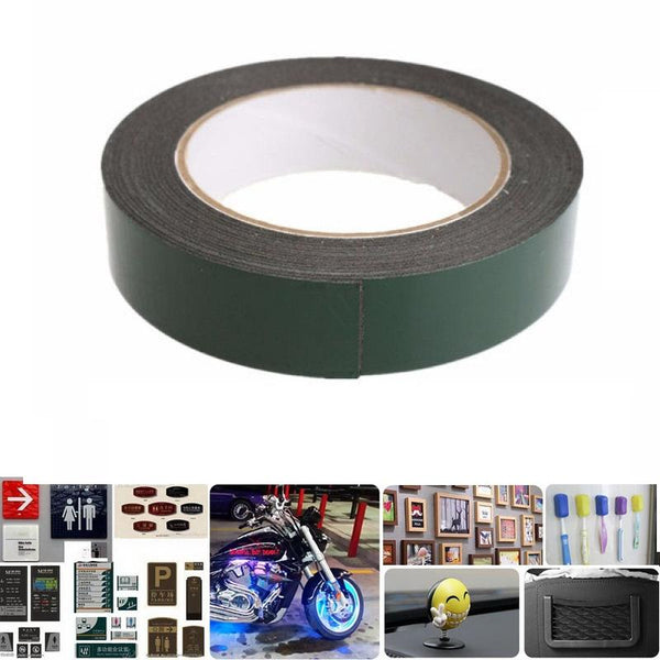 25MM x 5M Strong Waterproof Adhesive Double Sided Foam Tape for Car Trim Home Cellphone