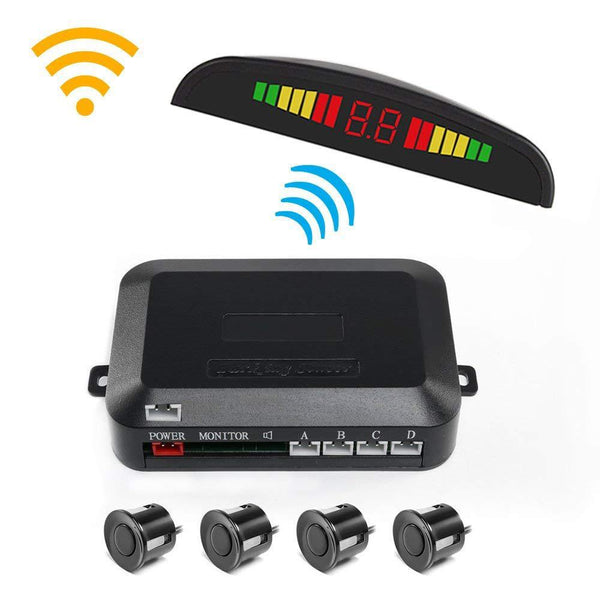 Wireless Parking Sensor LED Color Bar Display Alarm Reminder WIFI Parking Sensor With 4 Sensors