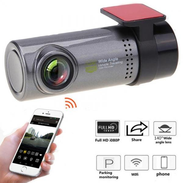 1080P HD WiFi 140 Degree Dash Cam G-Sensor Loop Recording Night Vision APP Monitor Car DVR Camera Video Recorder