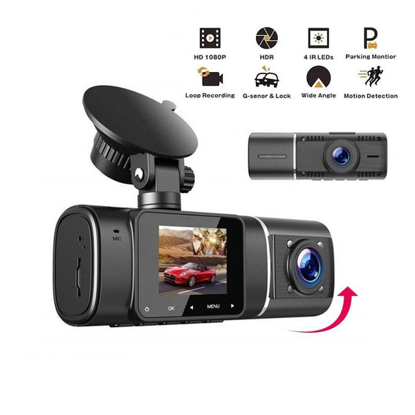 Full HD 1080P Dash Cam Front and Rear Driving Recorder Car Camera Gravity Sensor Dual Lens Loop Recording