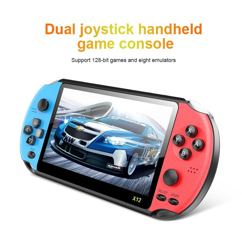 5.1 inc Handheld Game Console 128-bit retro Game Video Player with Double Rocker Built-in 2000+ Games Support TF Card TV Output For Adults or Children Gift