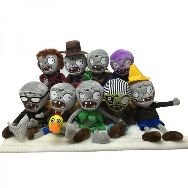 30CM Plants VS Zombies Soft Plush Toy Funny Stuffed Dolls Cosplay Toy for Kids Children Gifts Collection