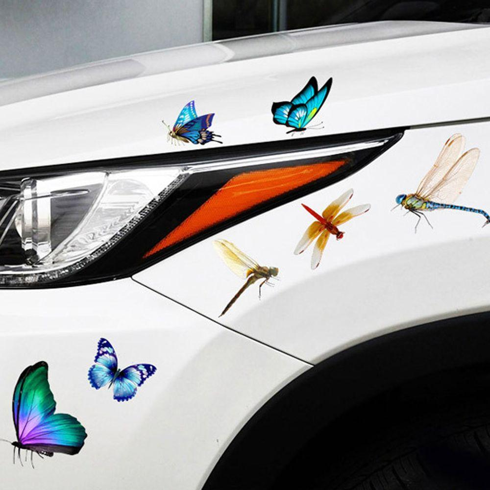 3D Car Sticker Animals Vinyl Windows Trucks Motorcycle Cover Up Scratches Car Decoration Waterproof Stickers Lizard  Butterfly Spider Scorpion Sticker Auto Decal PVC Accessories
