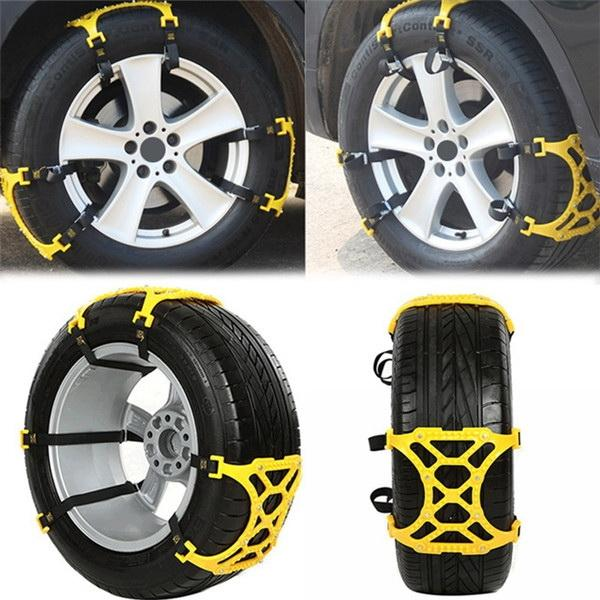 Snow Chains 165-265mm Car Tire Snow Anti-skid Chains Beef Tendon Thickening Chain