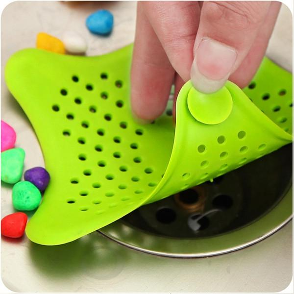 Creative Star Shaped Bathroom Stopper Strainer Filter Drainer Hair Catcher Shower Cover Random Delivery