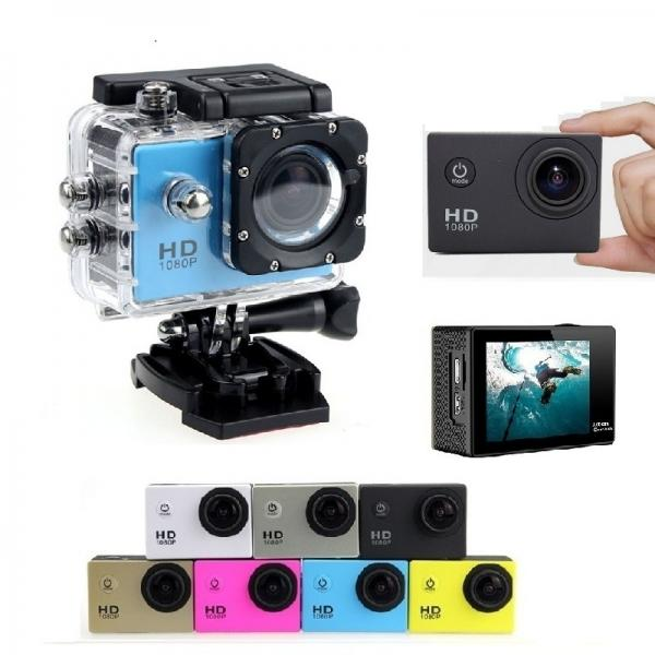 HD Mini Water-proof Sport Camera 2.0inch 1080P Loop Recording 170¡ã Wide Angle LCD Screen Anti-shake Motion Detection Car Video Recorder Car DVR Camera - Blue