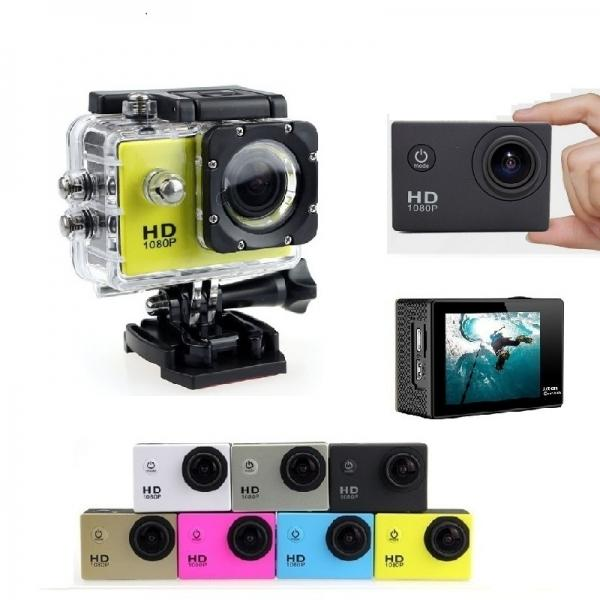 HD Mini Water-proof Sport Camera 2.0inch 1080P Loop Recording 170¡ã Wide Angle LCD Screen Anti-shake Motion Detection Car Video Recorder Car DVR Camera - Yellow