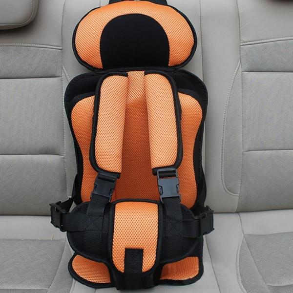 Portable Thickened Baby Child Safety Car Seat Fit Age 2 - 12 Years Old Orange L