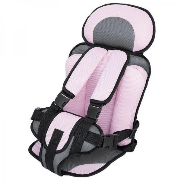 Portable Thickened Baby Child Safety Car Seat Fit Age 2 - 12 Years Old Pink L