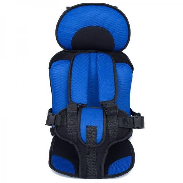 Portable Thickened Baby Child Safety Car Seat Fit Age 2 - 12 Years Old Royalblue L