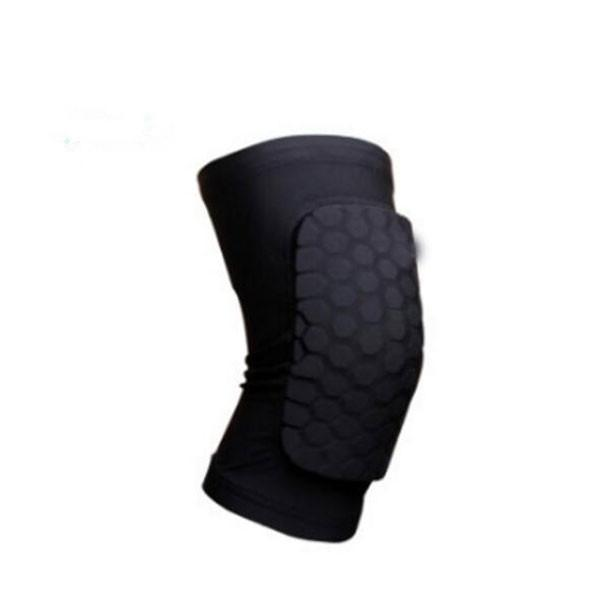 Short Honeycomb Style Sport Safety Crash Protective Knee Pad - Black M
