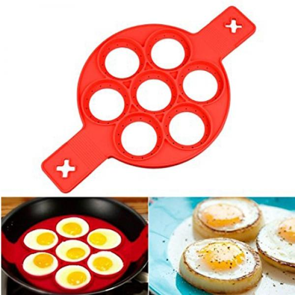 Non-stick Silicone Pancake Mold Egg Ring Maker