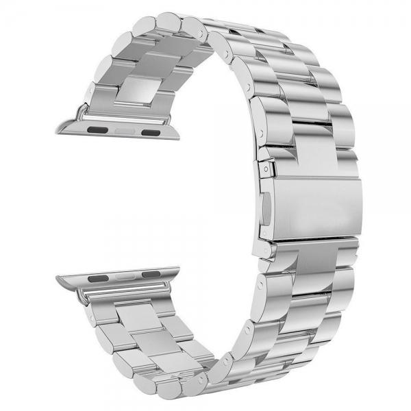 Stainless Steel Wrist Watch Band Bracelet for Apple iWatch Sports 42mm Silver