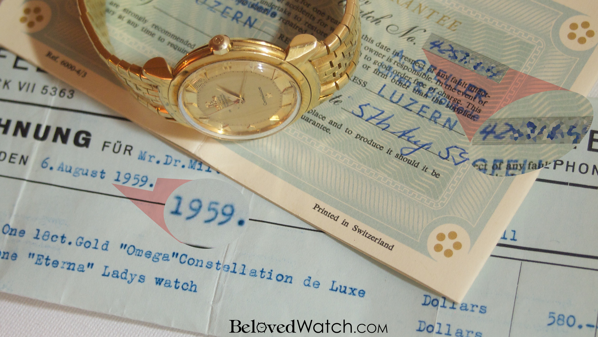 Omega Grand Luxe Constellation with 18k Yellow Gold Model 2930