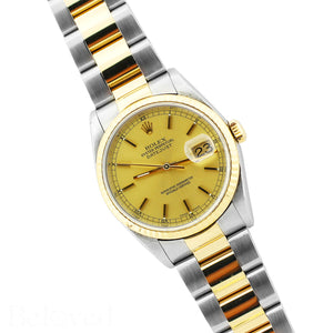 Rolex Datejust 16233 Champagne Fluted Bezel Image 3