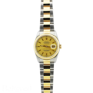 Rolex Datejust 16233 Champagne Fluted Bezel Image 2