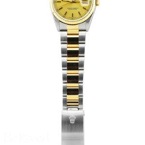 Rolex Datejust 16233 Champagne Fluted Bezel Image 6