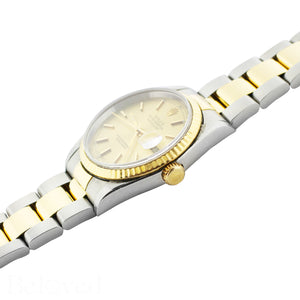 Rolex Datejust 16233 Champagne Fluted Bezel Image 4