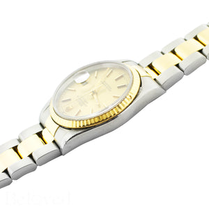 Rolex Datejust 16233 Champagne Fluted Bezel Image 5