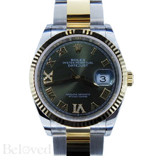 Load image into Gallery viewer, Rolex Datejust 126233 Green Sunburst Dial with Factory Diamond Six and Nine Image 1