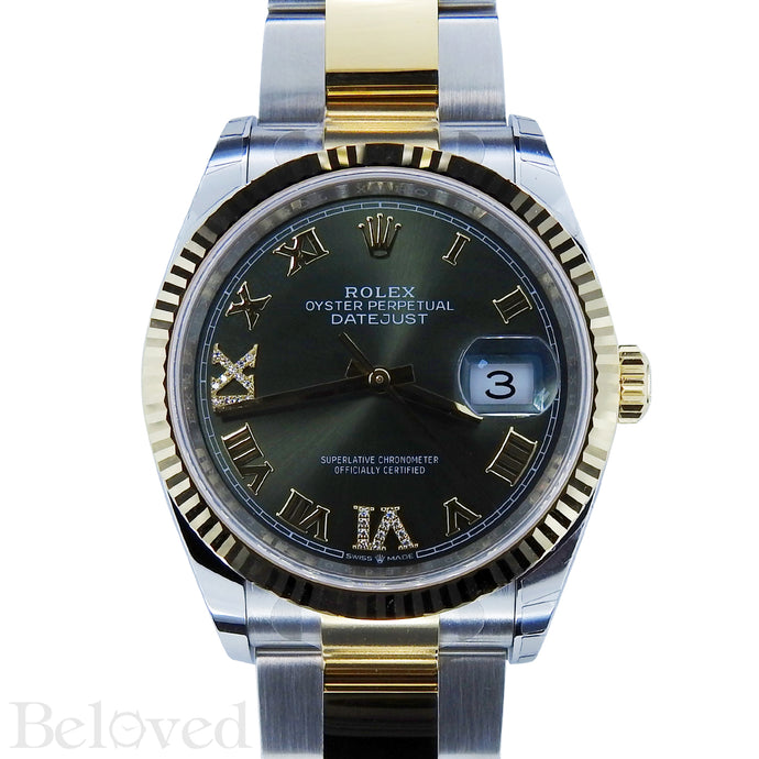 Rolex Datejust 126233 Green Sunburst Dial with Factory Diamond Six and Nine Image 1