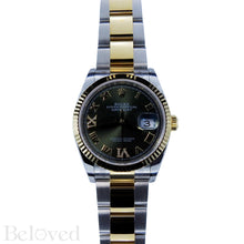 Load image into Gallery viewer, Rolex Datejust 126233 Green Sunburst Dial with Factory Diamond Six and Nine Image 2