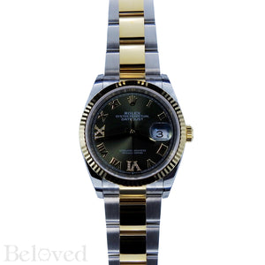 Rolex Datejust 126233 Green Sunburst Dial with Factory Diamond Six and Nine Image 2