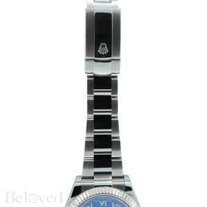 Rolex Datejust II 116334 Blue Roman Dial with Five Year Warranty Card and Rolex Box Image 5