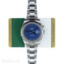 Load image into Gallery viewer, Rolex Datejust II 116334 Blue Roman Dial with Five Year Warranty Card and Rolex Box Image 2