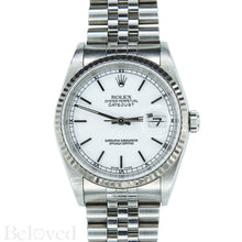 Load image into Gallery viewer, Rolex Datejust 16234 White Dial with Box and Papers Image 1