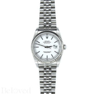 Rolex Datejust 16234 White Dial with Box and Papers Image 2