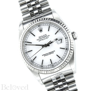 Rolex Datejust 16234 White Dial with Box and Papers Image 3