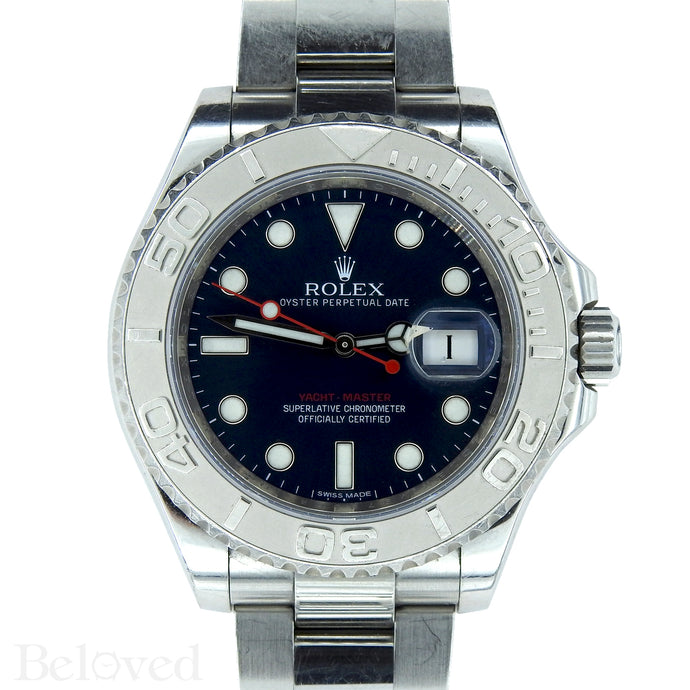 Rolex Yacht-Master 116622 Blue Dial Complete with Warranty Card & Rolex Box Image 1