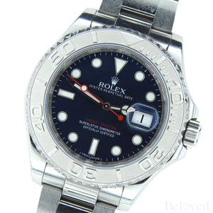 Rolex Yacht-Master 116622 Blue Dial Complete with Warranty Card & Rolex Box Image 4