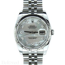 Load image into Gallery viewer, Rolex Datejust 116234 with Factory Diamond White Mother of Pearl Dial Image 1