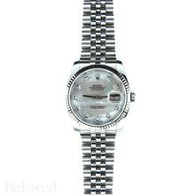 Load image into Gallery viewer, Rolex Datejust 116234 with Factory Diamond White Mother of Pearl Dial Image 3