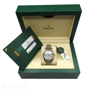 Rolex Datejust 116234 with Factory Diamond White Mother of Pearl Dial Image 5